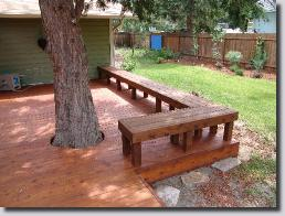 Custom deck and bench